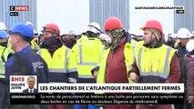 Les chantiers de l'Atlantique de Saint-Nazaire refusent de fermer leurs portes malgré le peu de protection et de la proximité entre les ouvriers