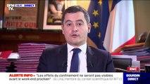 """Gérald Darmanin: """"Si tous les Français respectent les règles, nous arriverons à sortir de ce pic épidémique"""" du coronavirus"""