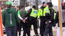 Canadian police block off streets to enforce state of emergency in Ontario province