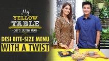 Bhel Puri Salad & Cheese Paani Puri Recipe   My Yellow Table   Chef Kunal Kapur   Rushali Rai