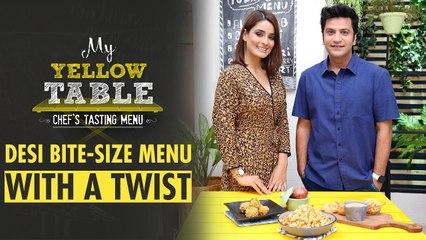 Bhel Puri Salad & Cheese Paani Puri Recipe | My Yellow Table | Chef Kunal Kapur | Rushali Rai