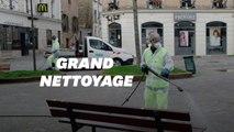 Opération de désinfection de l'espace public à Suresnes
