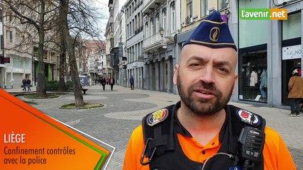 Liège - Confinement contrôles avec la police de Liège