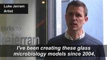British artist creates coronavirus glass sculpture