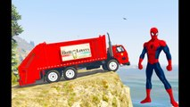 Learn color with spiderman and color truck on spiderman cartoon for Kids