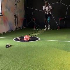 Pogba s'entraîne avec le maillot de la Juventus de Matuidi