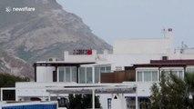 Quarantined Spaniard seen jogging on ROOF to break lockdown tedium