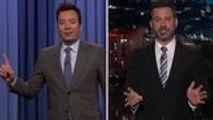 Jimmy Fallon, Jimmy Kimmel Film From Home, Make Quarantine Jokes | THR News