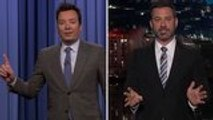 Jimmy Fallon, Jimmy Kimmel Film From Home, Make Quarantine Jokes | THR News