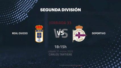 Previa partido entre Real Oviedo y Deportivo Jornada 33 Segunda División