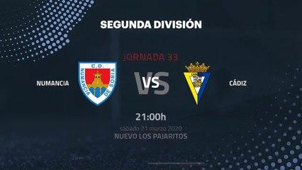 Previa partido entre Numancia y Cádiz Jornada 33 Segunda División