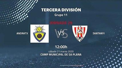 Previa partido entre Andratx y Santanyi Jornada 29 Tercera División