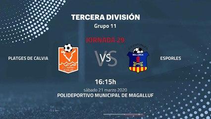 Previa partido entre Platges de Calvia y Esporles Jornada 29 Tercera División