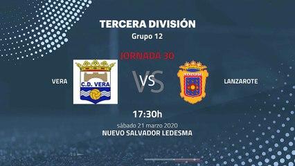 Previa partido entre Vera y Lanzarote Jornada 30 Tercera División