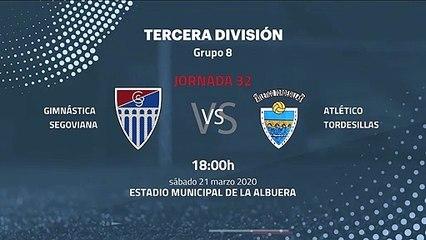 Previa partido entre Gimnástica Segoviana y Atlético Tordesillas Jornada 32 Tercera División