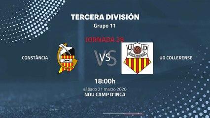 Previa partido entre Constància y UD Collerense Jornada 29 Tercera División