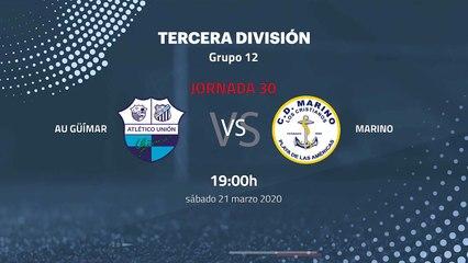 Previa partido entre AU Güímar y Marino Jornada 30 Tercera División