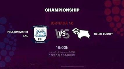 Previa partido entre Preston North End y Derby County  Jornada 40 Championship