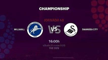 Previa partido entre Millwall y Swansea City Jornada 40 Championship