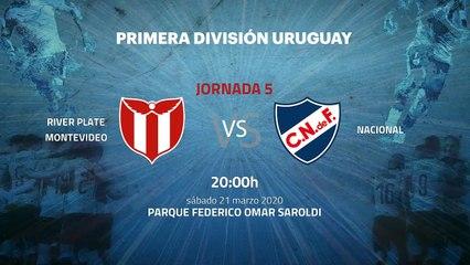 Previa partido entre River Plate Montevideo y Nacional Jornada 5 Apertura Uruguay