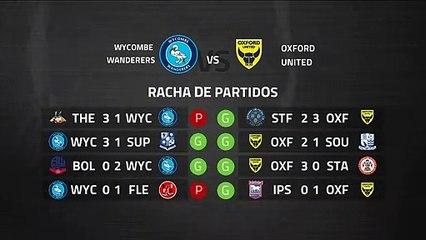 Previa partido entre Wycombe Wanderers y Oxford United Jornada 39 League One