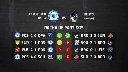 Previa partido entre Peterborough United y Bristol Rovers Jornada 39 League One