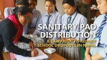 Sanitary pad dispensers in Nepal schools to reduce dropouts