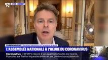 Le député Fabien Roussel nous montre les couloirs vides de l'Assemblée