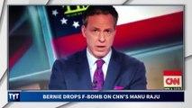 Bernie Drops F-Bomb on CNN Reporter