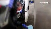 Van'da bir minibüste binlerce kaçak tıbbi maske ele geçirildi