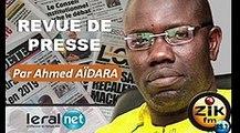 ZikFM - Revue de presse Ahmed Aidara du Jeudi 19 Mars 2020