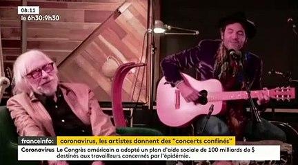 VIRUS - Matthieu Chedid, Jean-Louis Aubert, Christine and The Queens… Des artistes offrent des sessions live depuis chez eux - VIDEO
