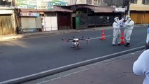 Drone disinfects street in the Philippines to fight coronavirus