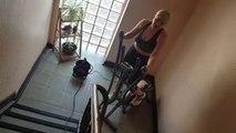 """Algrange : du sport dans la cage d'escalier: """"merci voisine !"""""""