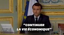 Coronavirus: Macron exhorte les salariés et les entreprises à poursuivre l'activité