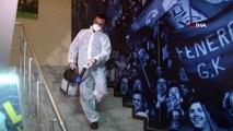 Ülker Stadyumu'nda korona virüse karşı dezenfekte çalışması