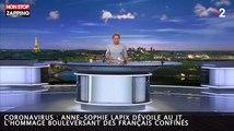 Coronavirus : Anne-Sophie Lapix dévoile au JT l'hommage bouleversant des Français confinés (vidéo)