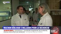 Coronavirus: Emmanuel Macron en visite à l'Institut Pasteur