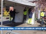 À la une : Point Coronavirus / Des tentes au CHU de Saint-Etienne / Don du sang / Marchés maintenus dans la Loire / Taux d'abandon des animaux en hausse / Du sport à la maison -  Le JT - TL7, Télévision loire 7