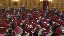 Il est 20h, l'hémicycle du Sénat applaudit les personnels de santé