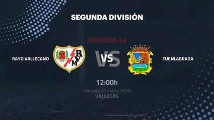 Previa partido entre Rayo Vallecano y Fuenlabrada Jornada 33 Segunda División