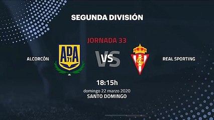 Previa partido entre Alcorcón y Real Sporting Jornada 33 Segunda División