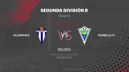 Previa partido entre Villarrubia y Marbella FC Jornada 30 Segunda División B