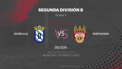 Previa partido entre UD Melilla y Pontevedra Jornada 30 Segunda División B
