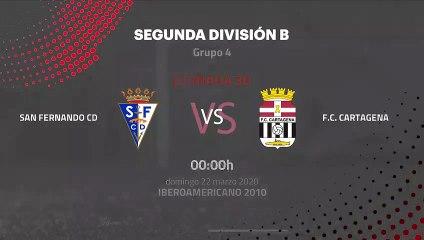 Previa partido entre San Fernando CD y F.C. Cartagena Jornada 30 Segunda División B
