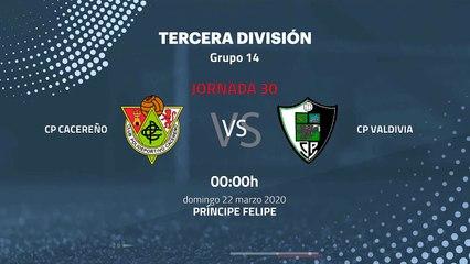 Previa partido entre CP Cacereño y CP Valdivia Jornada 30 Tercera División