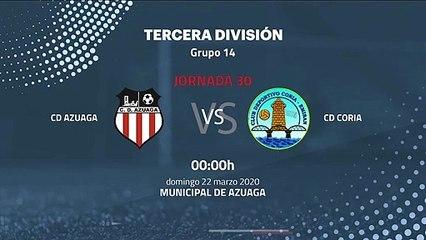 Previa partido entre CD Azuaga y CD Coria Jornada 30 Tercera División