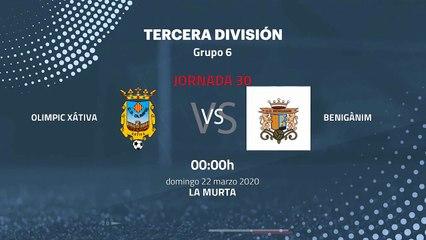 Previa partido entre Olimpic Xátiva y Benigànim Jornada 30 Tercera División
