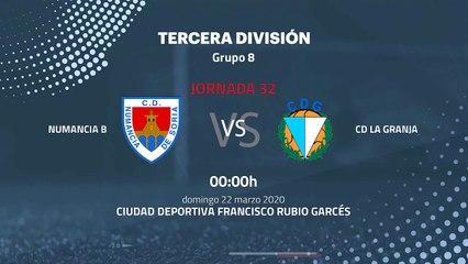 Previa partido entre Numancia B y CD La Granja Jornada 32 Tercera División