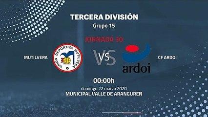 Previa partido entre Mutilvera y CF Ardoi Jornada 30 Tercera División